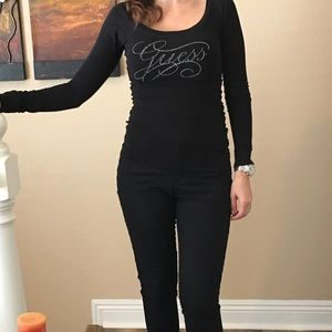 Guess fitted long sleeve top